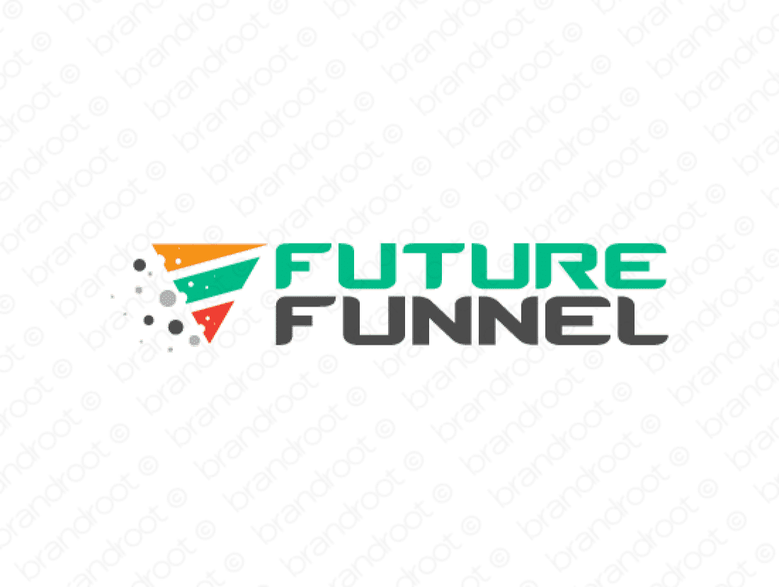 Futurefunnel logo design included with business name and domain name, Futurefunnel.com.