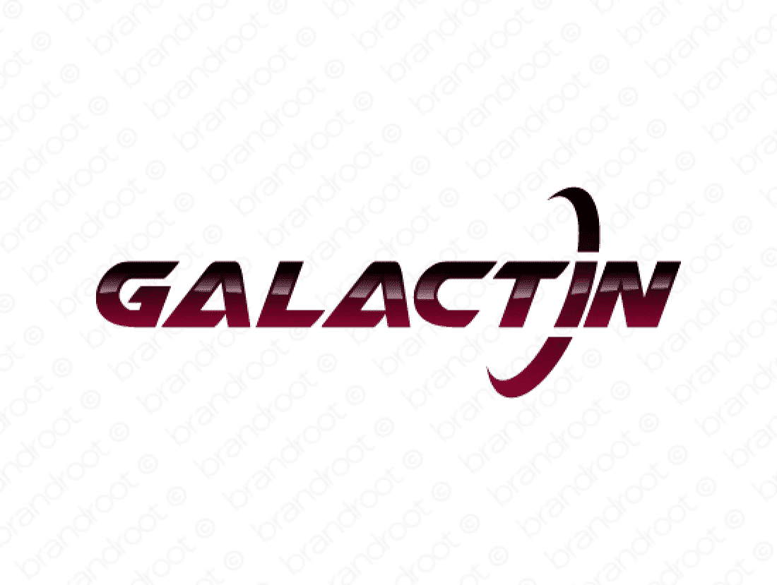 Galactin logo design included with business name and domain name, Galactin.com.