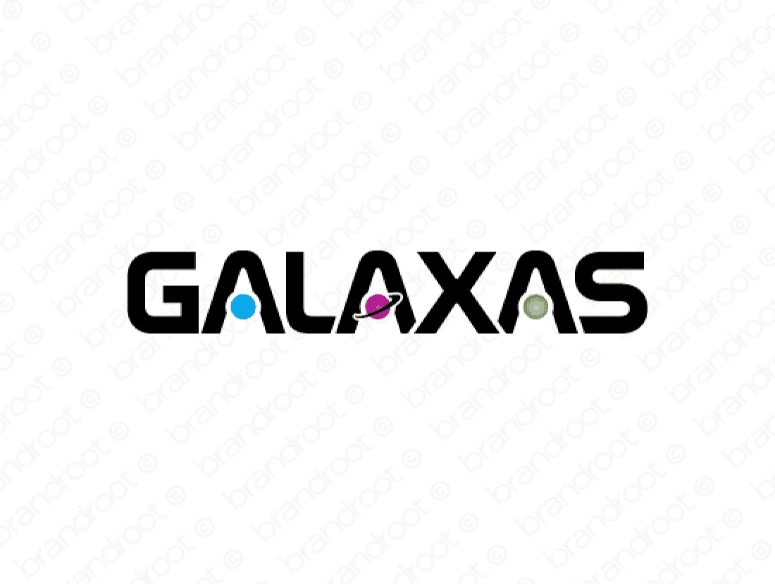 Galaxas logo design included with business name and domain name, Galaxas.com.