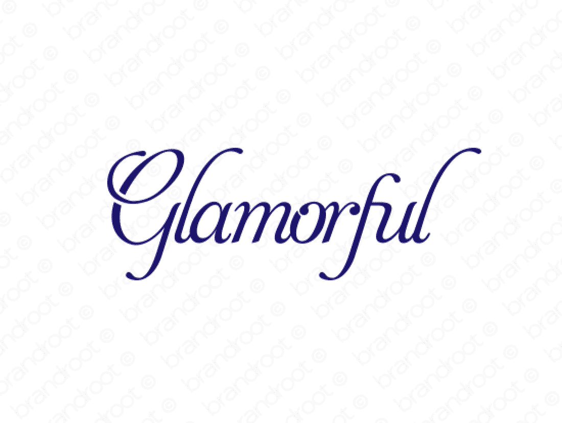 Glamorful logo design included with business name and domain name, Glamorful.com.