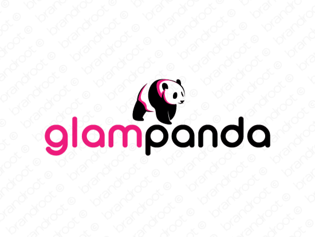 Glampanda logo design included with business name and domain name, Glampanda.com.