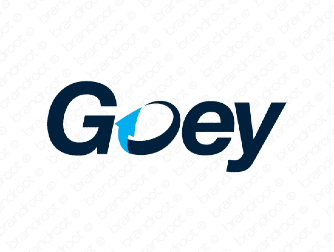 Goey logo design included with business name and domain name, Goey.com.