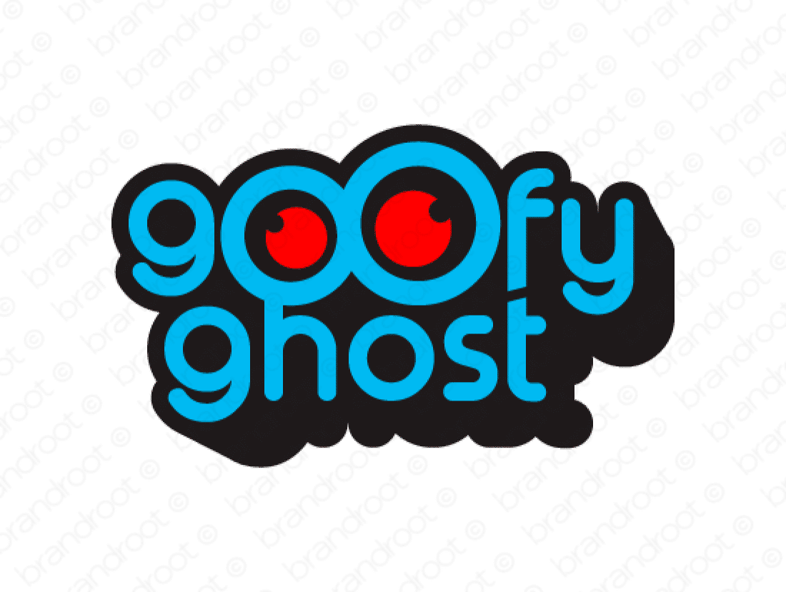 Goofyghost logo design included with business name and domain name, Goofyghost.com.