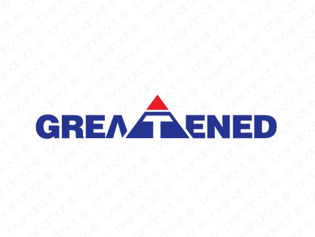 Greatened logo design included with business name and domain name, Greatened.com.