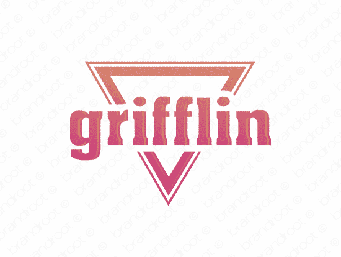 Grifflin logo design included with business name and domain name, Grifflin.com.