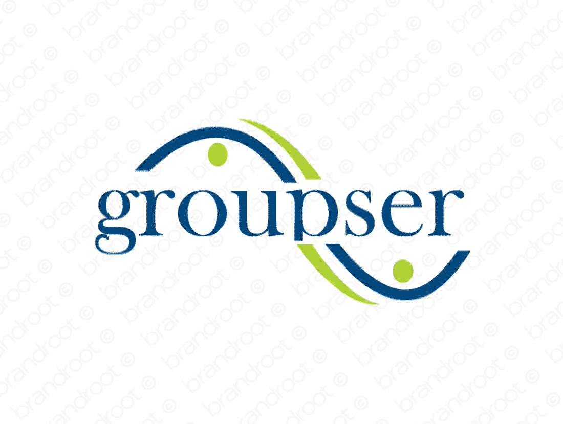Groupser logo design included with business name and domain name, Groupser.com.