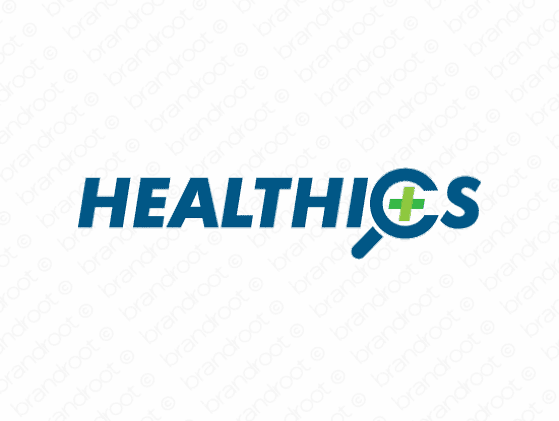Healthics logo design included with business name and domain name, Healthics.com.