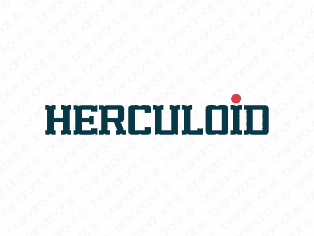 Herculoid logo design included with business name and domain name, Herculoid.com.