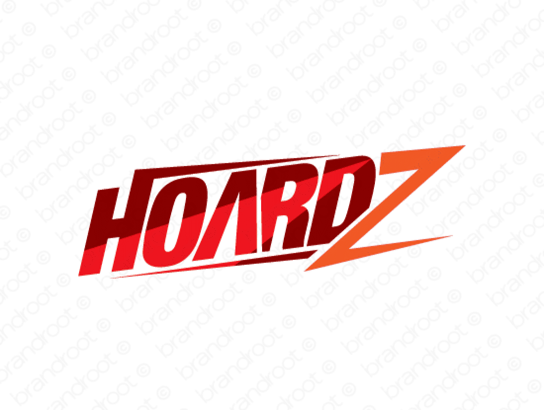 Hoardz logo design included with business name and domain name, Hoardz.com.