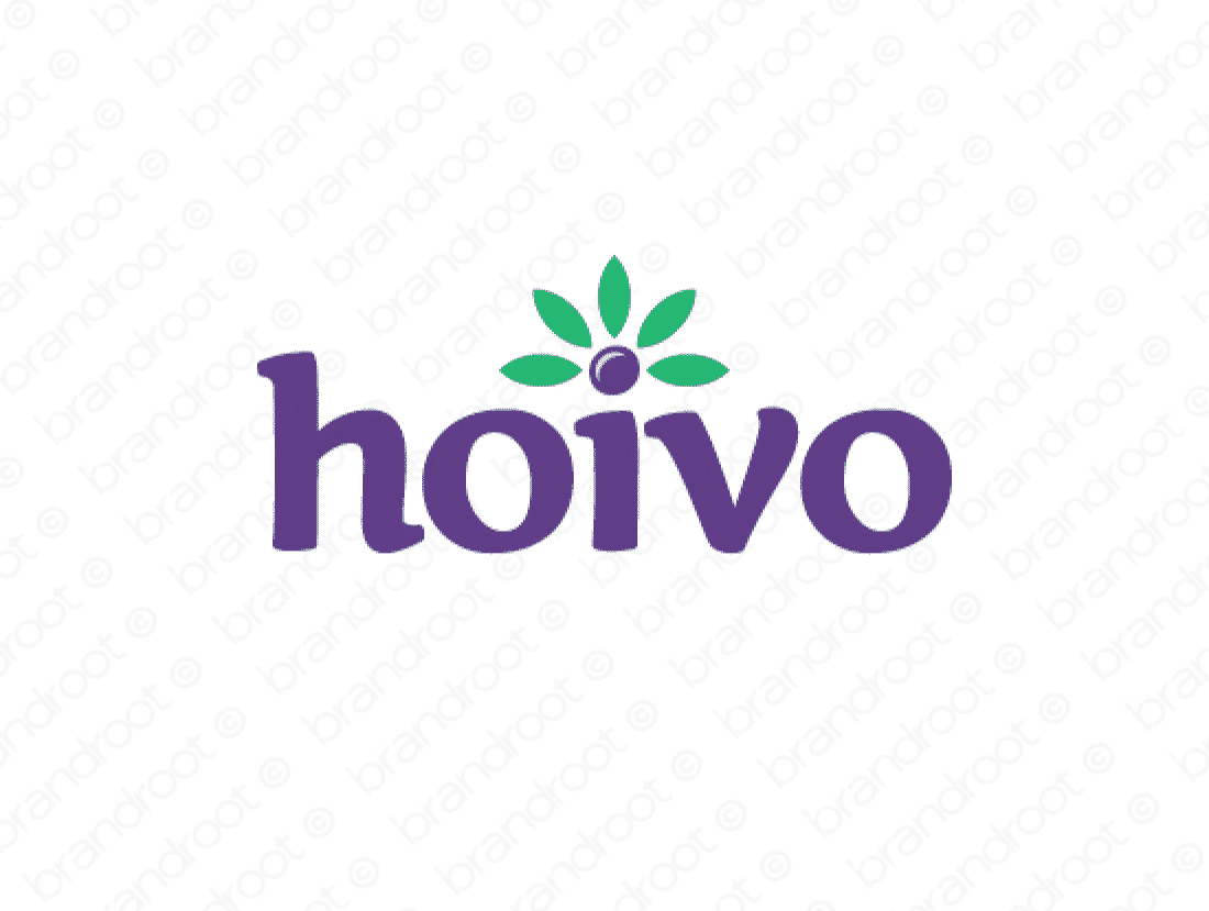 Hoivo logo design included with business name and domain name, Hoivo.com.