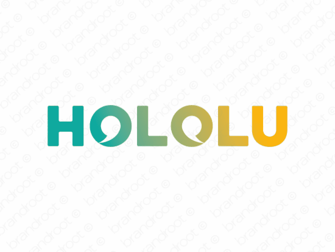 Hololu logo design included with business name and domain name, Hololu.com.