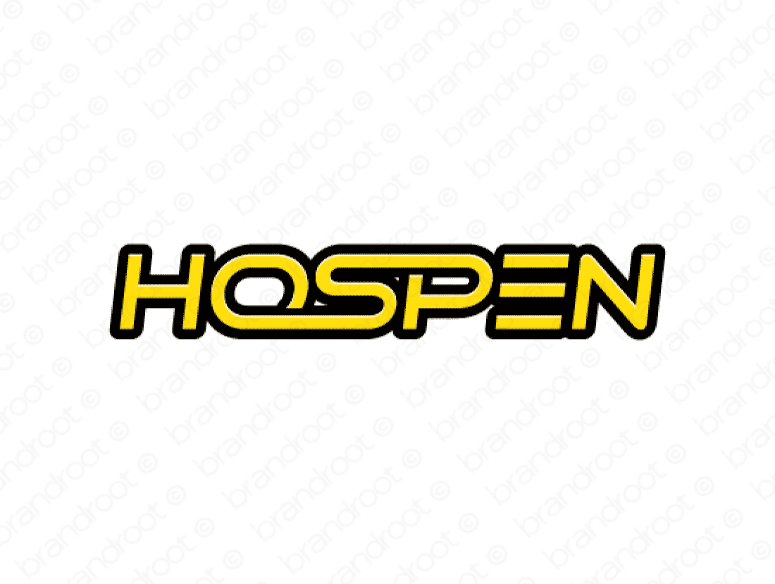 Hospen logo design included with business name and domain name, Hospen.com.