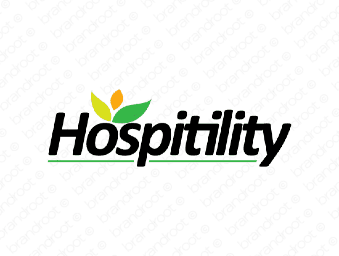 Hospitility logo design included with business name and domain name, Hospitility.com.