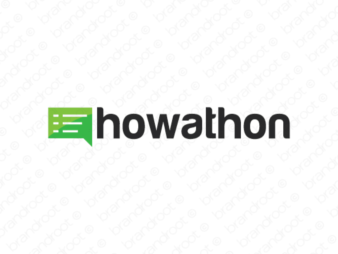 Howathon logo design included with business name and domain name, Howathon.com.