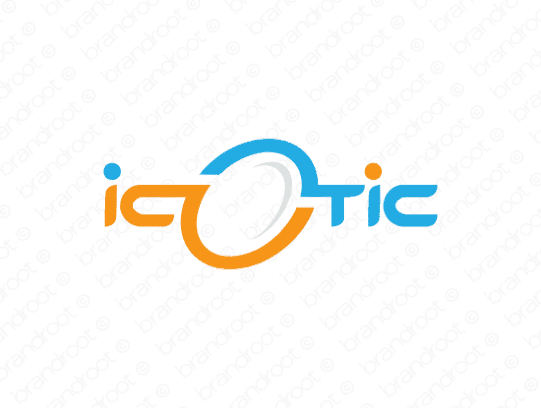 Icotic logo design included with business name and domain name, Icotic.com.