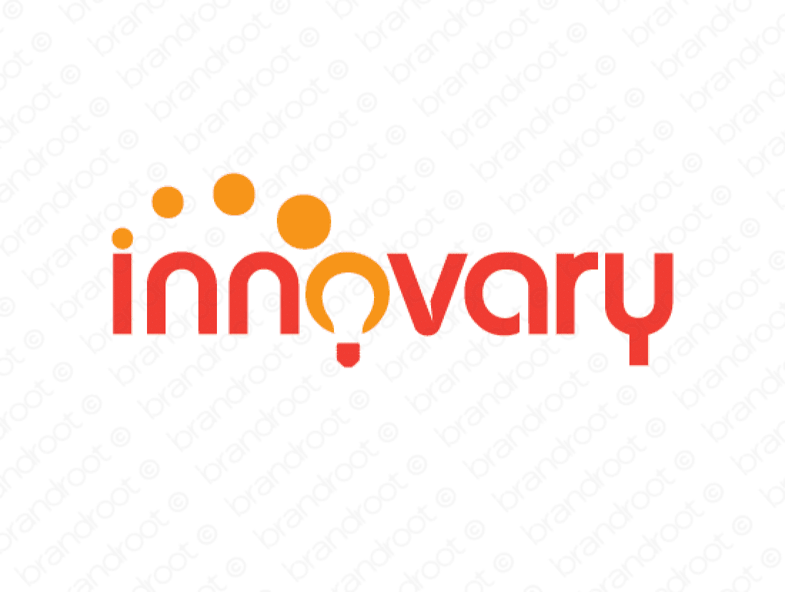 Innovary logo design included with business name and domain name, Innovary.com.