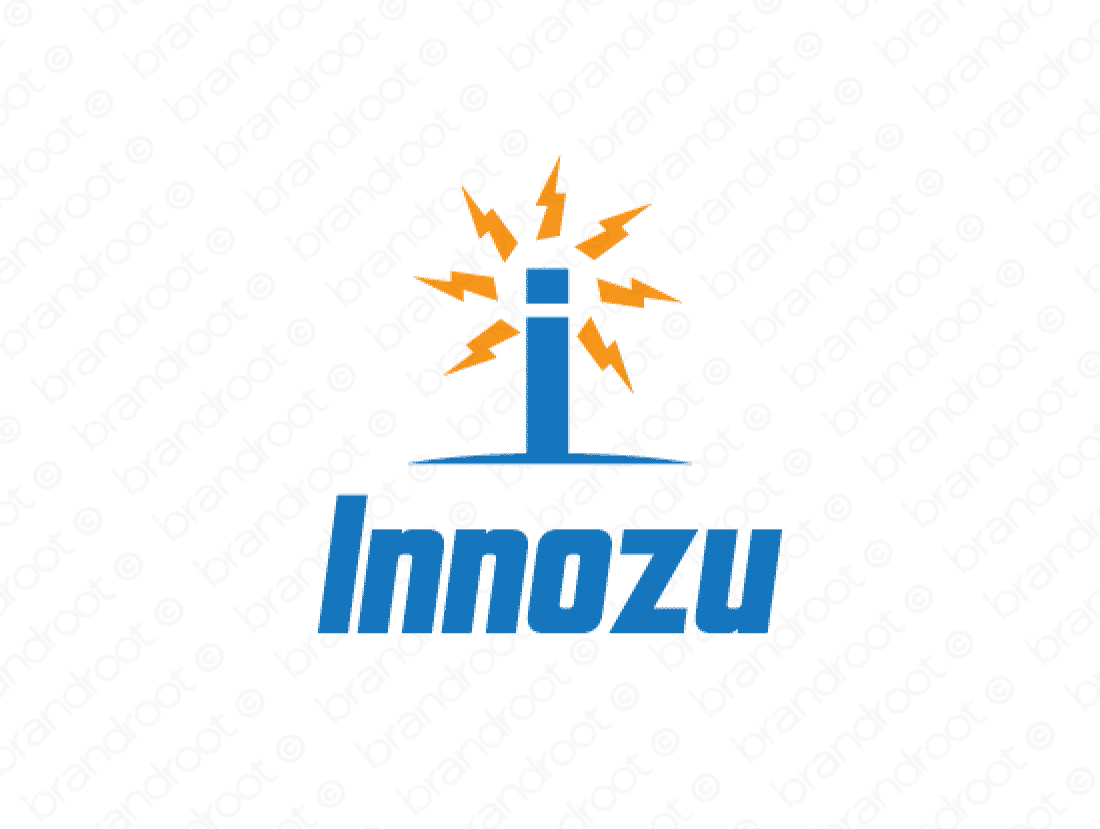 Innozu logo design included with business name and domain name, Innozu.com.