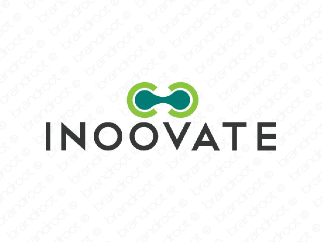 Inoovate logo design included with business name and domain name, Inoovate.com.