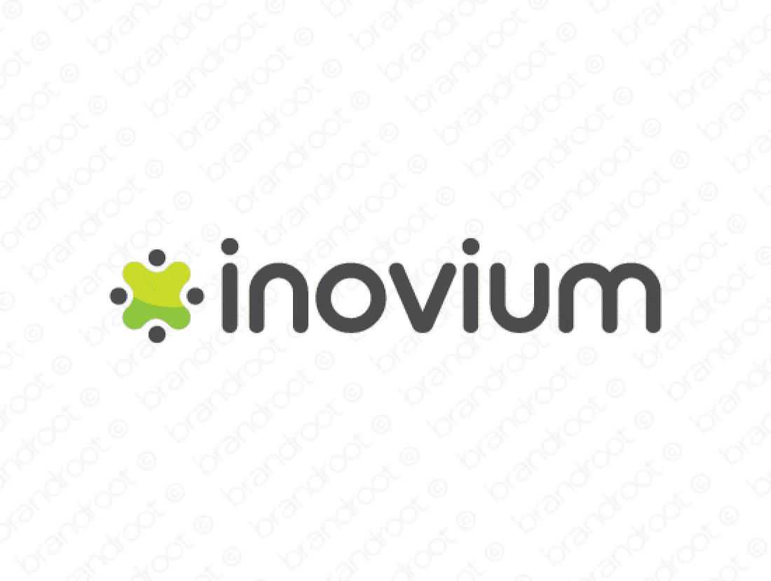 Inovium logo design included with business name and domain name, Inovium.com.