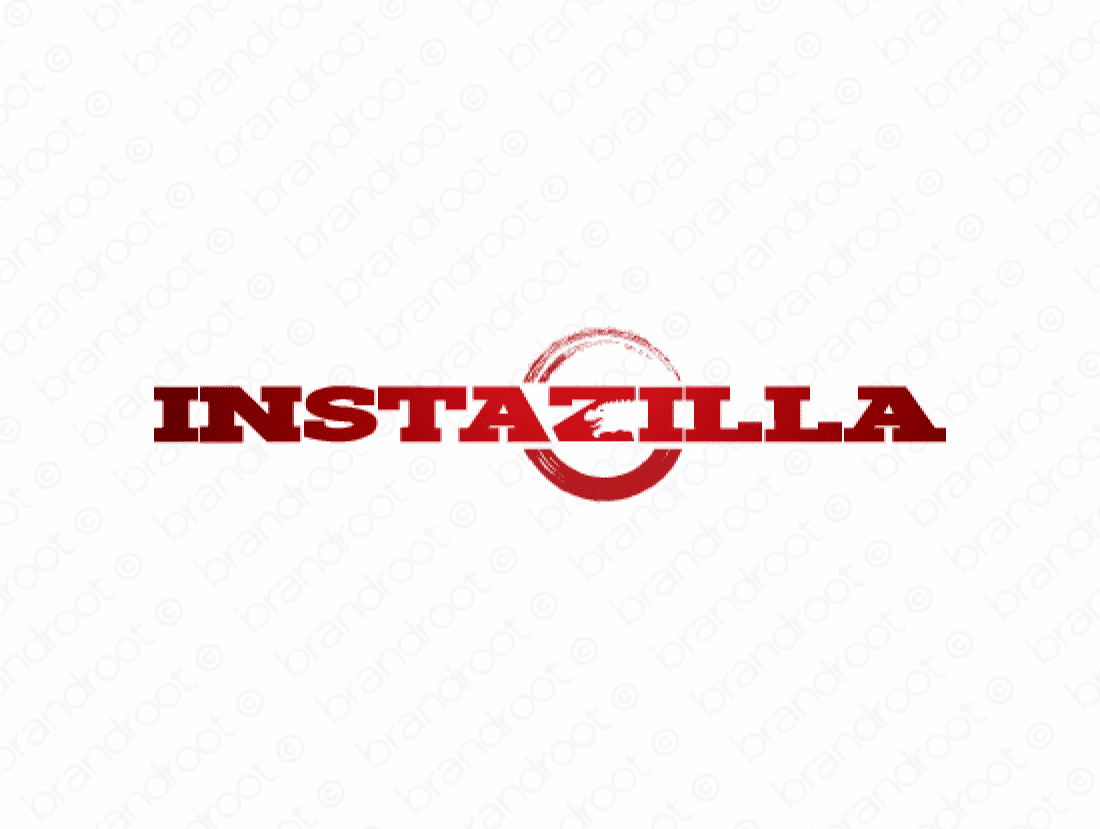 Instazilla logo design included with business name and domain name, Instazilla.com.