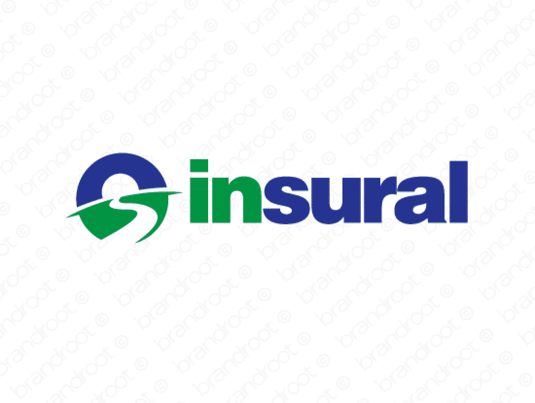Insural logo design included with business name and domain name, Insural.com.