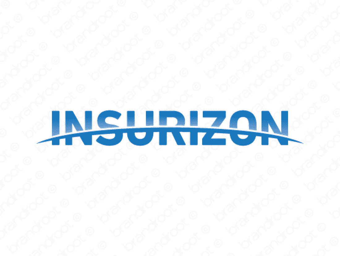 Insurizon logo design included with business name and domain name, Insurizon.com.