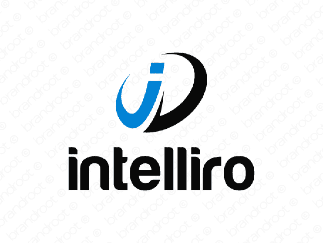 Intelliro logo design included with business name and domain name, Intelliro.com.