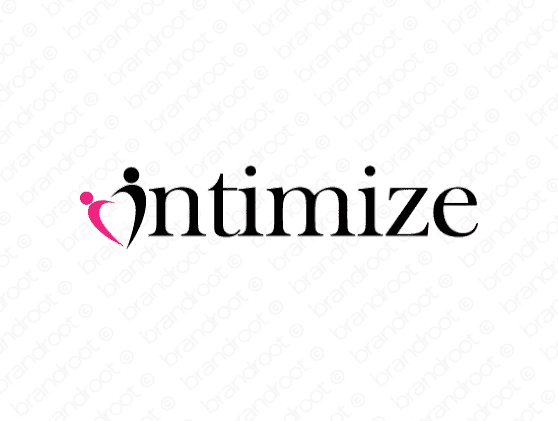 Intimize logo design included with business name and domain name, Intimize.com.