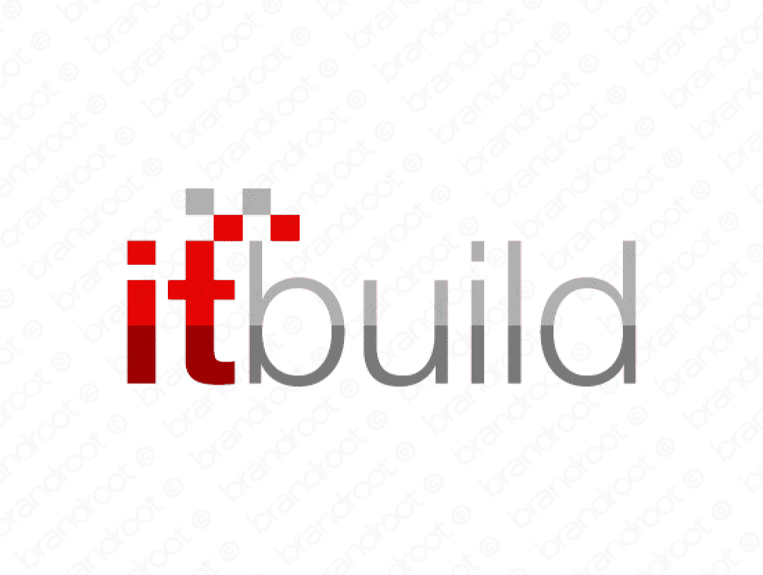 Itbuild logo design included with business name and domain name, Itbuild.com.