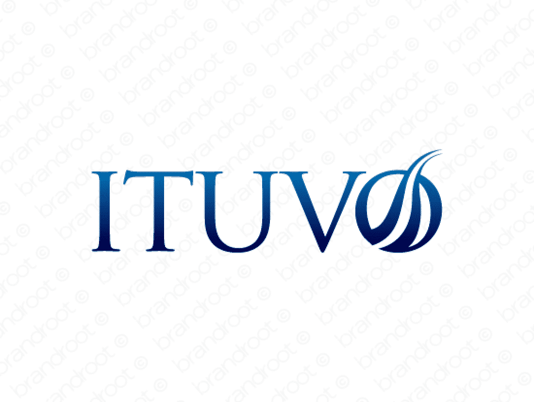 Ituvo logo design included with business name and domain name, Ituvo.com.