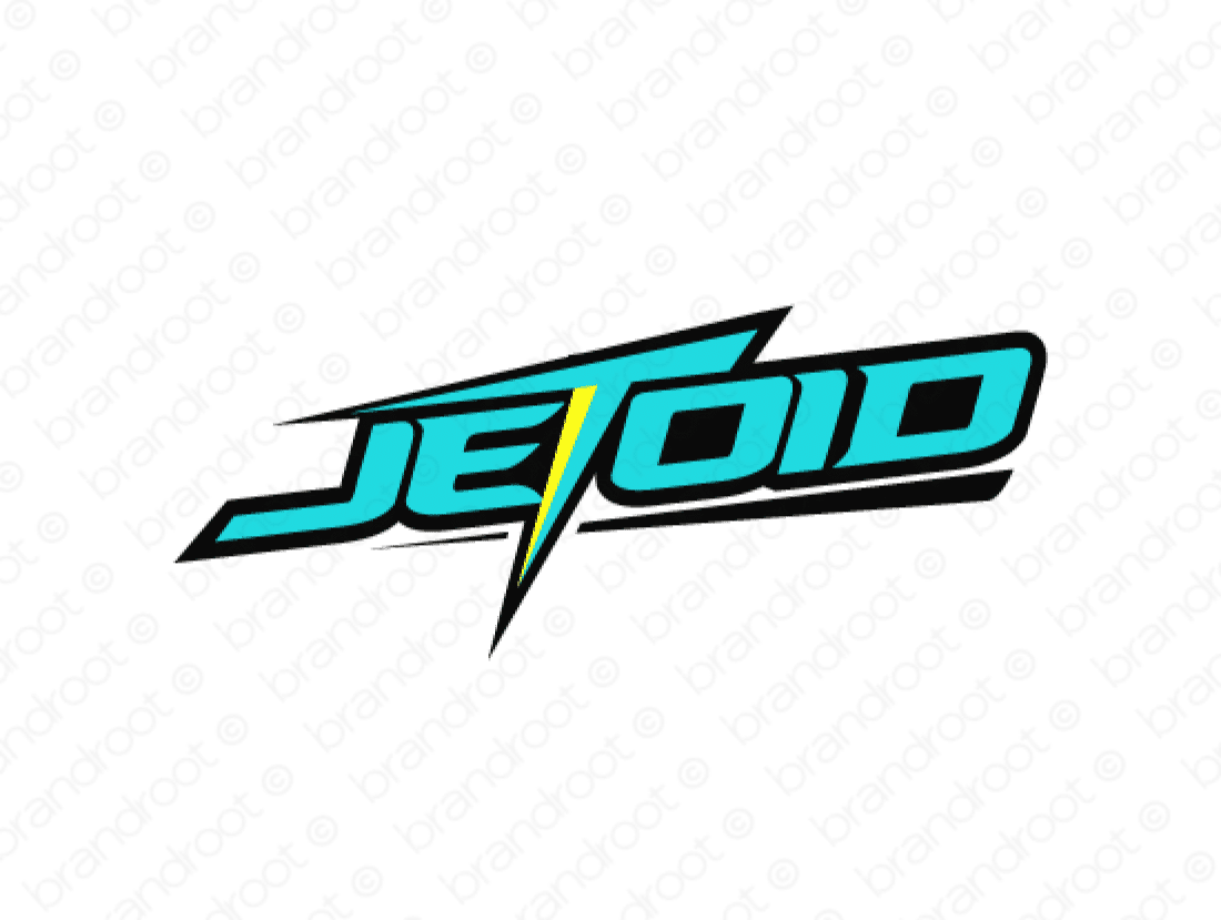 Jetoid logo design included with business name and domain name, Jetoid.com.