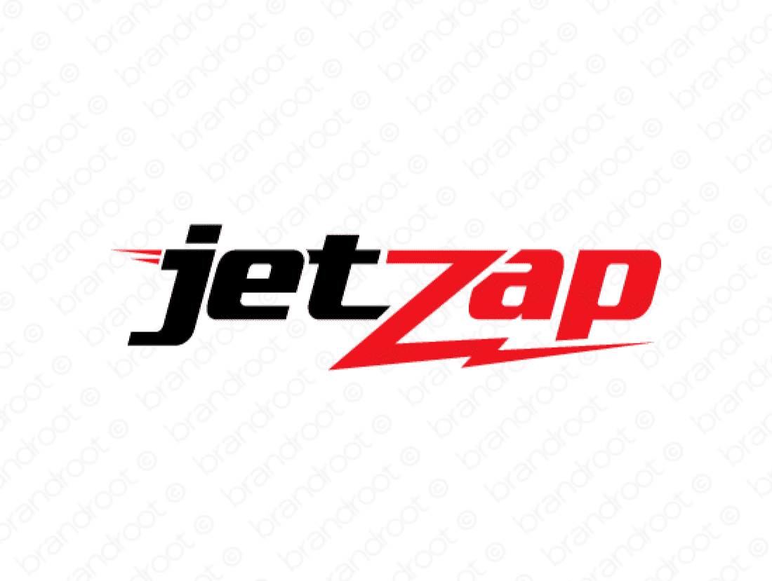 Jetzap logo design included with business name and domain name, Jetzap.com.