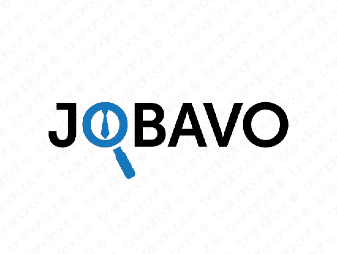 Jobavo logo design included with business name and domain name, Jobavo.com.