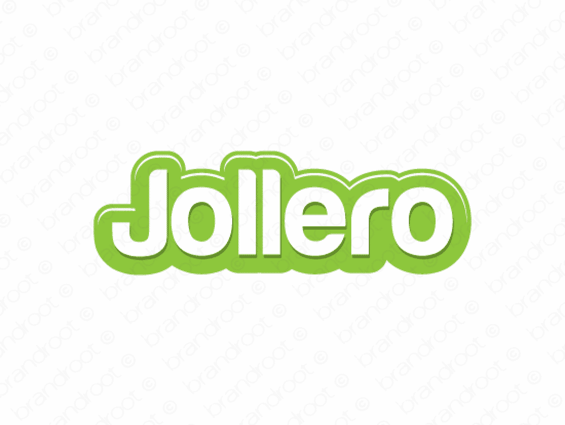 Jollero logo design included with business name and domain name, Jollero.com.