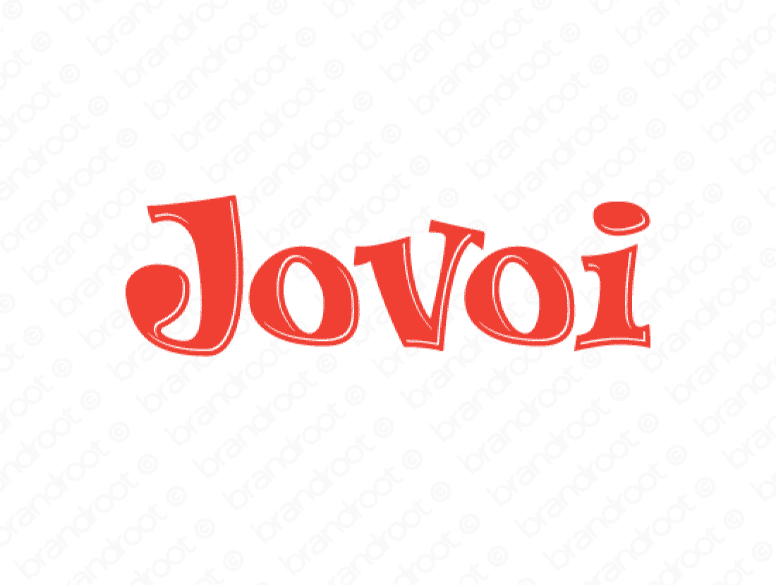 Jovoi logo design included with business name and domain name, Jovoi.com.