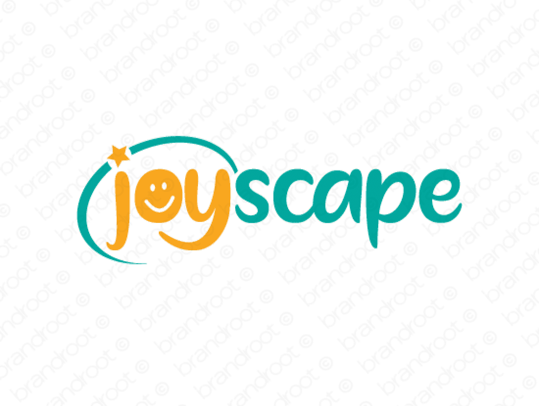 Joyscape logo design included with business name and domain name, Joyscape.com.