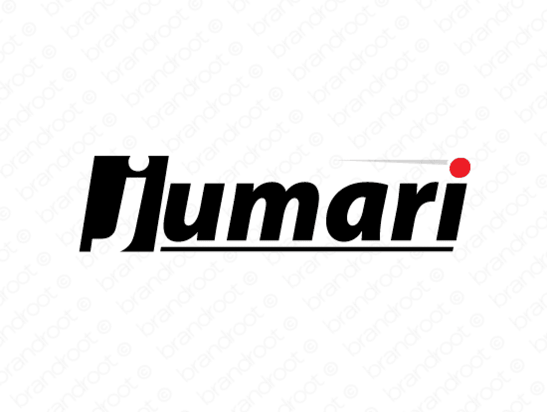 Jumari logo design included with business name and domain name, Jumari.com.