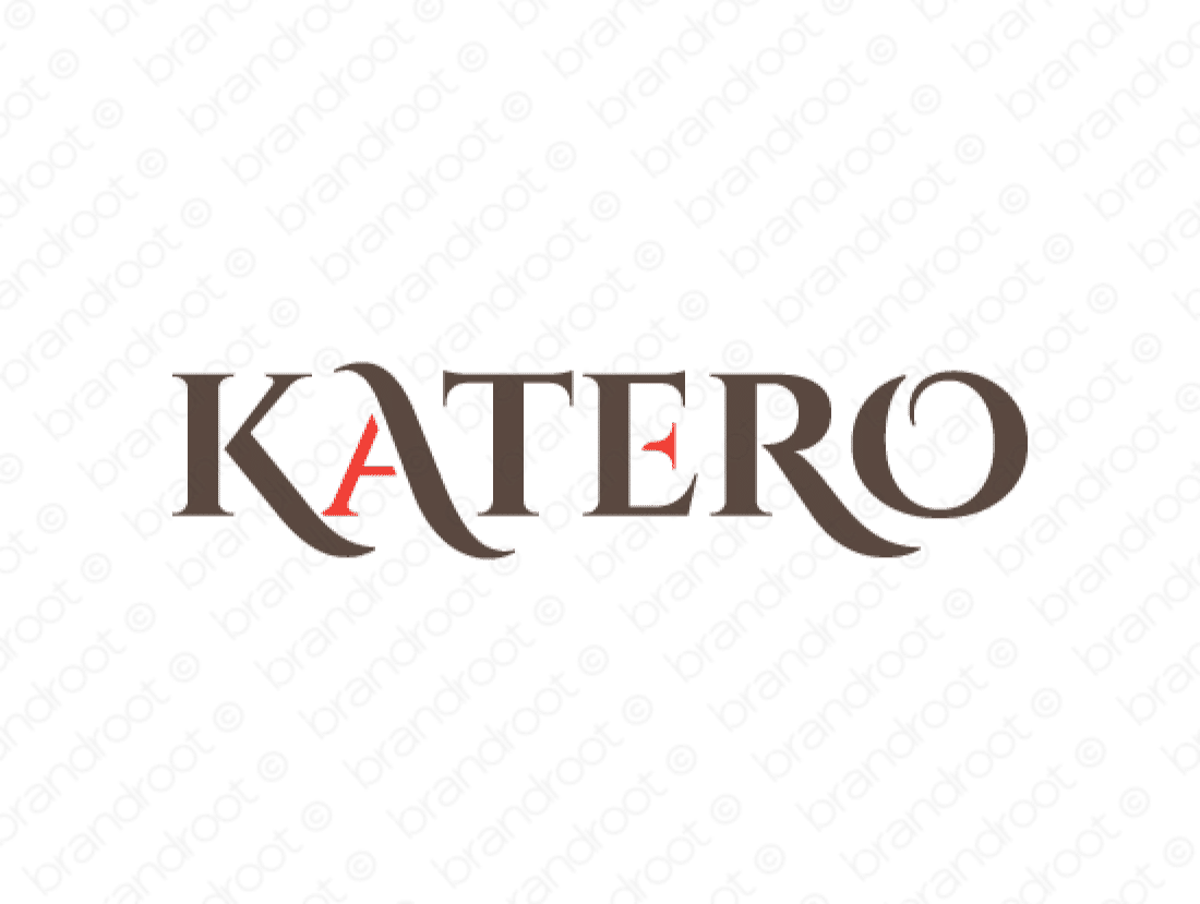 Katero logo design included with business name and domain name, Katero.com.