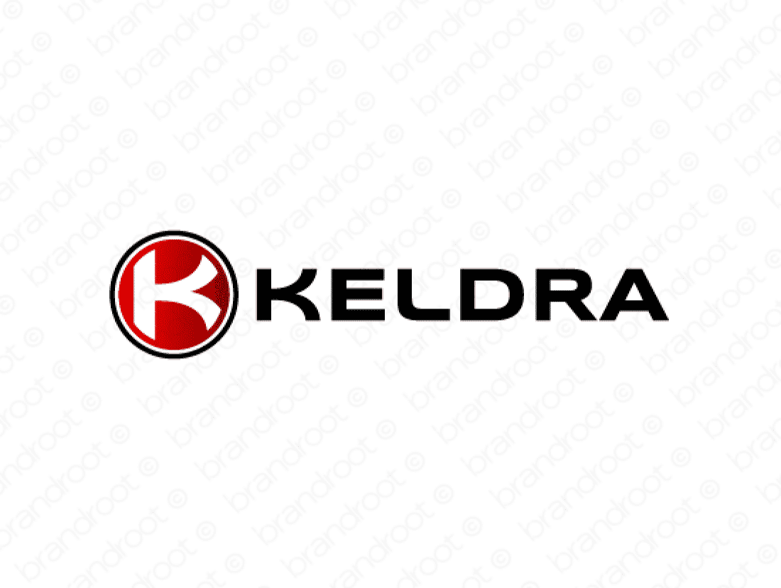 Keldra logo design included with business name and domain name, Keldra.com.