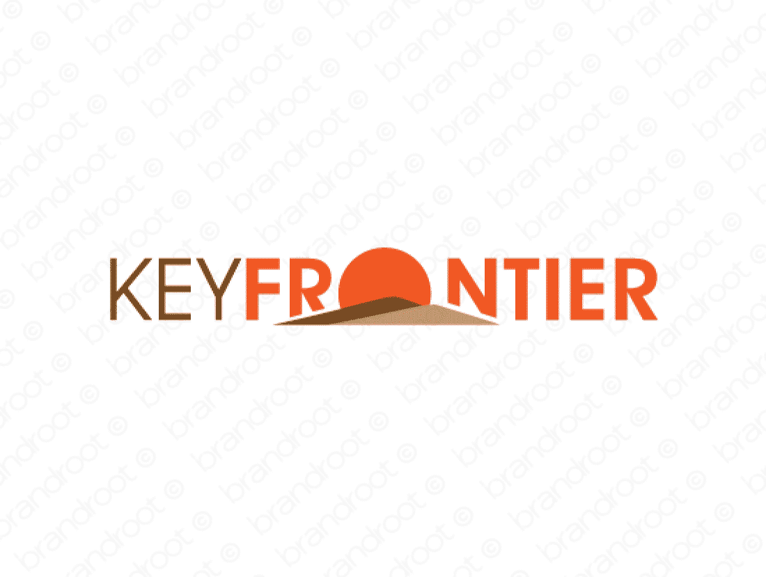 Keyfrontier logo design included with business name and domain name, Keyfrontier.com.
