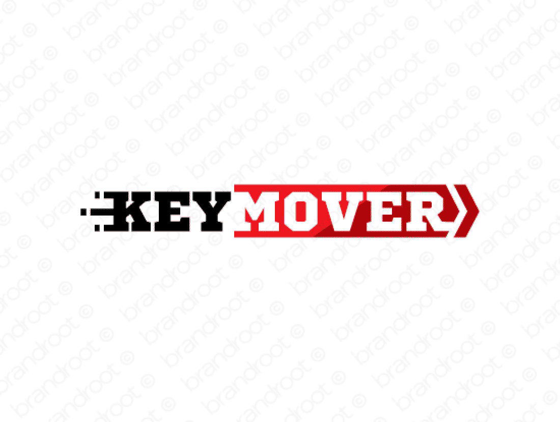 Keymover logo design included with business name and domain name, Keymover.com.