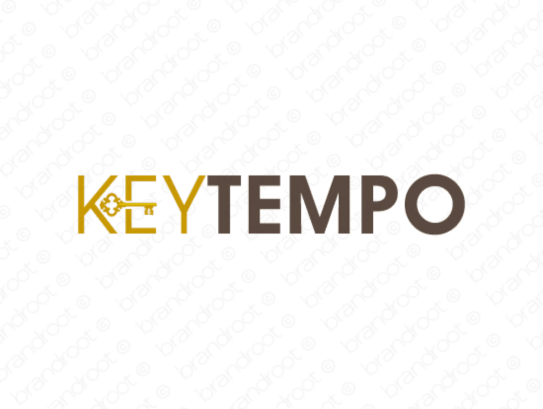 Keytempo logo design included with business name and domain name, Keytempo.com.