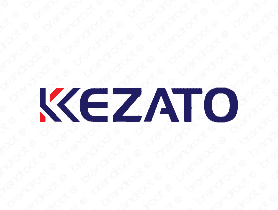 Kezato logo design included with business name and domain name, Kezato.com.