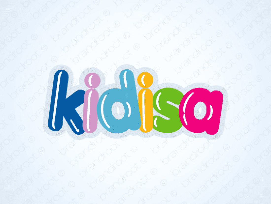 Kidisa logo design included with business name and domain name, Kidisa.com.