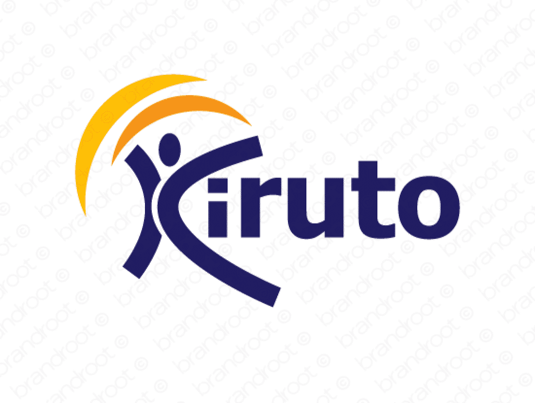 Kiruto logo design included with business name and domain name, Kiruto.com.