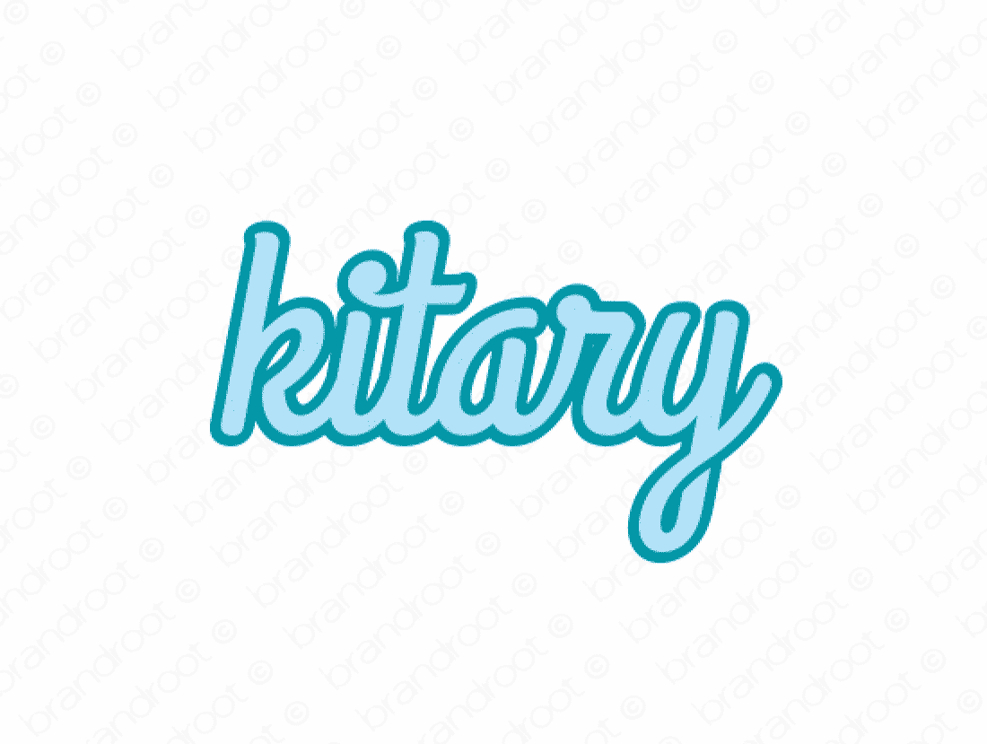 Kitary logo design included with business name and domain name, Kitary.com.