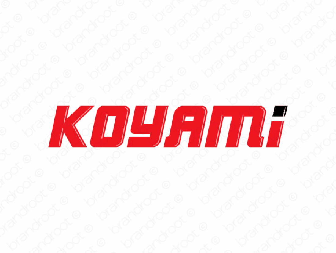 Koyami logo design included with business name and domain name, Koyami.com.