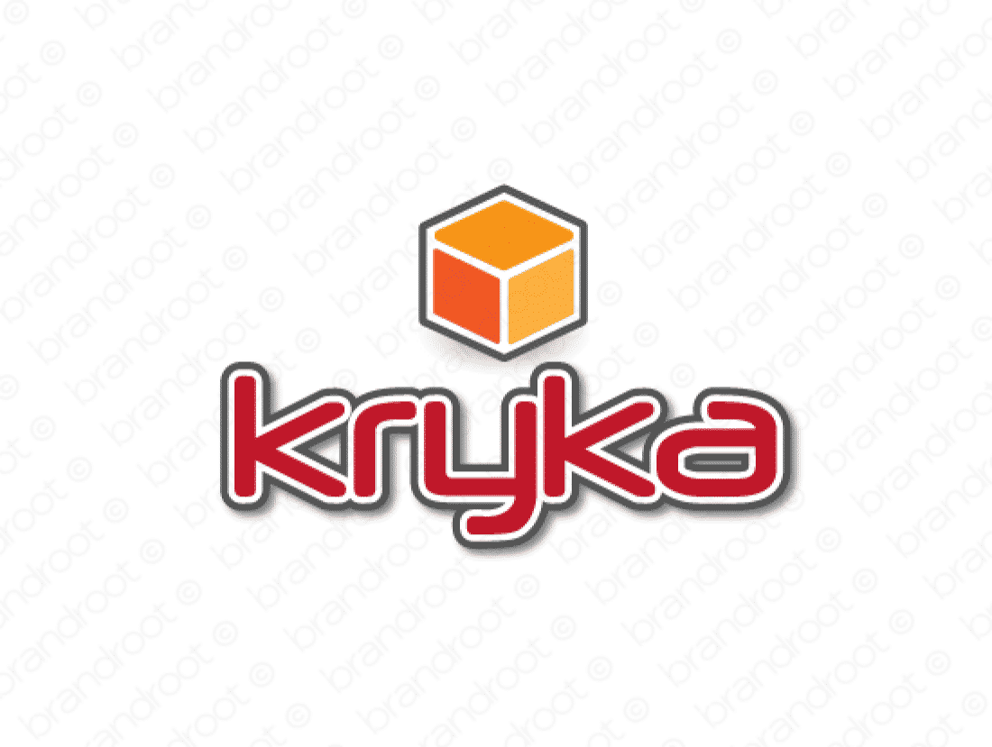 Kryka logo design included with business name and domain name, Kryka.com.