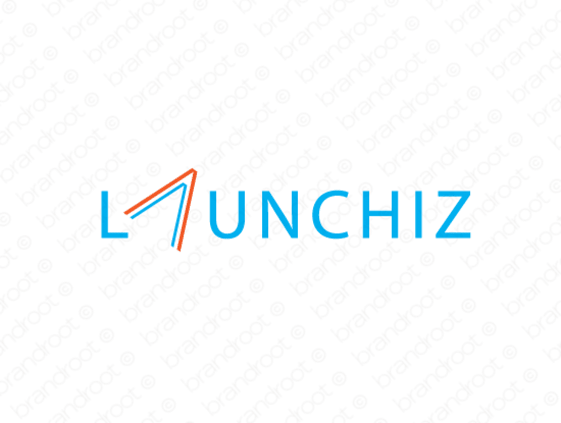 Launchiz logo design included with business name and domain name, Launchiz.com.