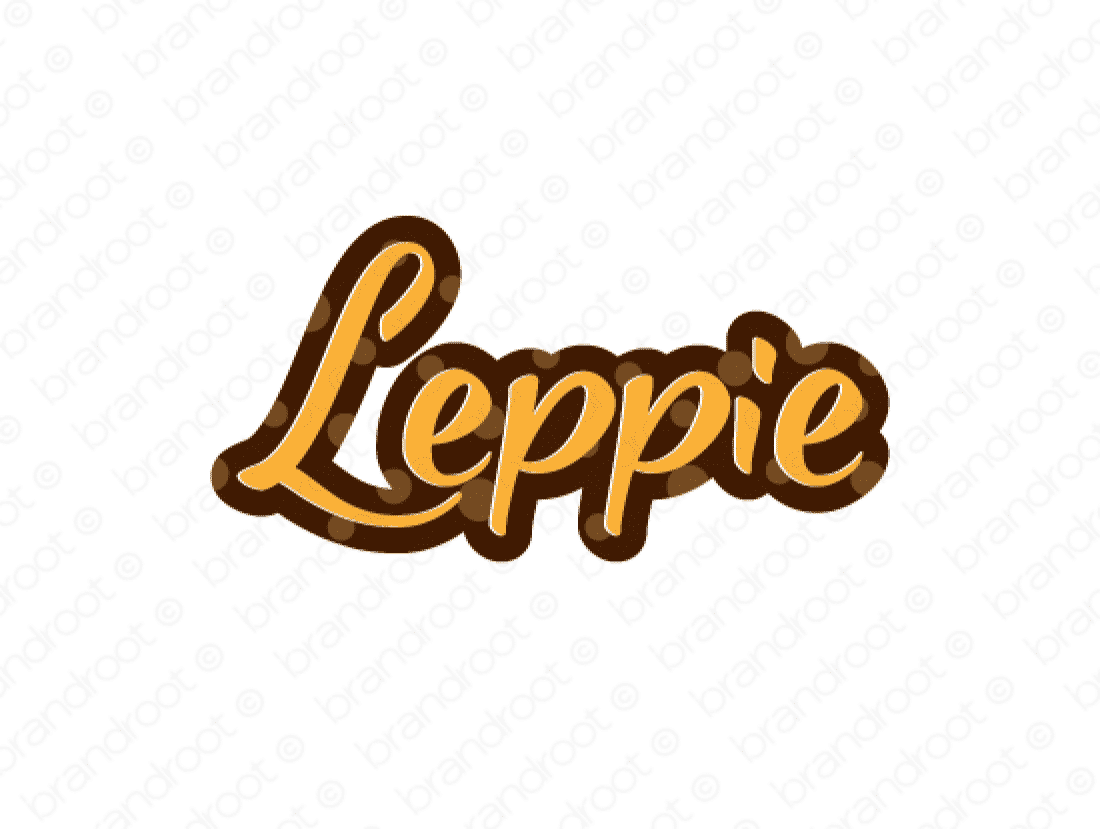 Leppie logo design included with business name and domain name, Leppie.com.
